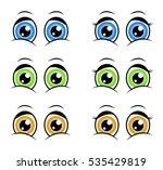 cartoon eyes  expression vector ...   Shutterstock .eps vector #535429819