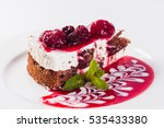 cheese cake with strawberries... | Shutterstock . vector #535433380