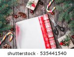 christmas composition with xmas ... | Shutterstock . vector #535441540