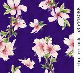 seamless pattern with almond... | Shutterstock . vector #535446088
