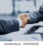 business people shaking hands | Shutterstock . vector #535446328