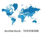 political map of the world.... | Shutterstock .eps vector #535458388