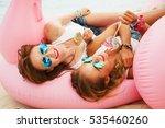 summer lifestyle portrait of... | Shutterstock . vector #535460260