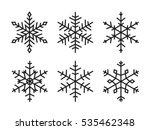 vector snowflakes set   Shutterstock .eps vector #535462348