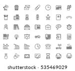 office thin line related icons... | Shutterstock .eps vector #535469029