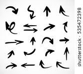 hand drawn arrows  vector set | Shutterstock .eps vector #535472398