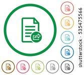 export document flat color... | Shutterstock .eps vector #535475566