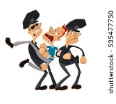 two police officers and... | Shutterstock .eps vector #535477750