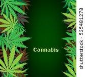 cannabis text on hemp marijuana ... | Shutterstock .eps vector #535481278