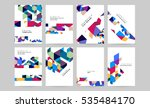 geometric background template... | Shutterstock .eps vector #535484170