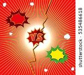 versus letter background.... | Shutterstock .eps vector #535486618