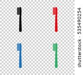 toothbrush    vector icon | Shutterstock .eps vector #535490254
