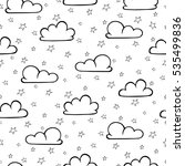 seamless pattern with clouds... | Shutterstock .eps vector #535499836
