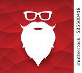 santa claus with beard vector... | Shutterstock .eps vector #535500418