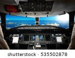 the interior of cockpit modern... | Shutterstock . vector #535502878