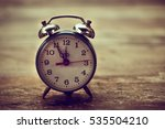 vintage alarm clock nearly... | Shutterstock . vector #535504210