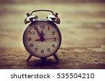 vintage alarm clock nearly... | Shutterstock . vector #535504210