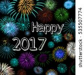 happy new year 2017wish   with  ...   Shutterstock . vector #535507774