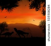 dinosaurs silhouettes in...   Shutterstock .eps vector #535508284