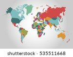 world map countries vector on... | Shutterstock .eps vector #535511668