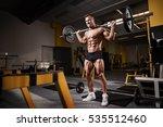 muscular bodybuilder guy doing... | Shutterstock . vector #535512460