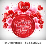 greeting for valentines day... | Shutterstock .eps vector #535518328