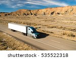 over the road long haul 18... | Shutterstock . vector #535522318