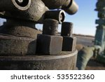 the bolts and nuts on the... | Shutterstock . vector #535522360