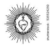 sacred heart of jesus. isolated ... | Shutterstock .eps vector #535524250