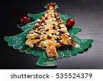 poppy cake in christmas tree... | Shutterstock . vector #535524379