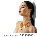 beauty fashion model brunette... | Shutterstock . vector #535530940