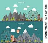 vector illustration. ferris... | Shutterstock .eps vector #535534588