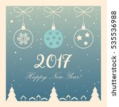 merry christmas and happy new... | Shutterstock .eps vector #535536988