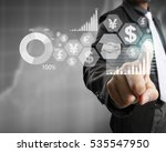 businessman with financial... | Shutterstock . vector #535547950