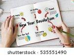 new beginning solution goals... | Shutterstock . vector #535551490