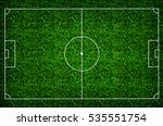 football field or soccer field... | Shutterstock . vector #535551754