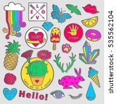 fashion badge elements in... | Shutterstock .eps vector #535562104