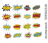 comic sound effects in pop art...   Shutterstock .eps vector #535562218