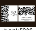 romantic invitation. wedding ... | Shutterstock .eps vector #535563499