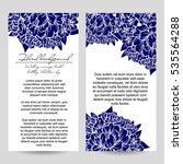 invitation with floral... | Shutterstock . vector #535564288