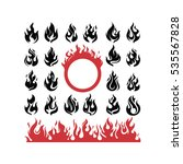 abstract fire flame hot burning ... | Shutterstock .eps vector #535567828