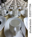 the row of coffee white cup and ... | Shutterstock . vector #535577704