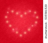 shiny and sparkling heart...   Shutterstock .eps vector #535581520