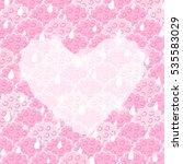 white transparent heart on pink ...   Shutterstock .eps vector #535583029