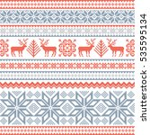 christmas background with deer... | Shutterstock .eps vector #535595134