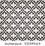 vintage abstract floral... | Shutterstock .eps vector #535599319
