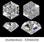 diamond six star isolated... | Shutterstock . vector #53560243