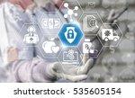 medical insurance security... | Shutterstock . vector #535605154