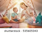 happy loving family. mother and ...   Shutterstock . vector #535605343