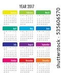 Year 2017 Calendar Vector...